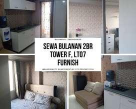 Sewa Bulanan di Bassura 2BR Furnish Lt.17 Tower F - 08VIA1022