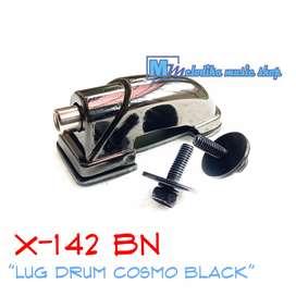 Lug Snare Drum Cosmo Black X-142 BN