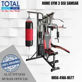 Alat Fitness HOME GYM 3 SISI SAMSAK FREE SARUNG TINJU
