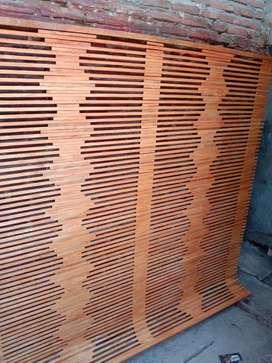 jual tirai kayu dan isi Bambu Sdh Pernis