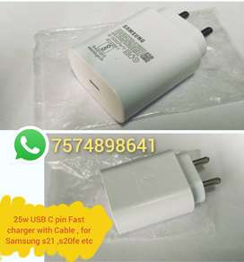 Samsung 25w Usb C Pin Charger & cable for Galaxy S21 / s20fe / note10