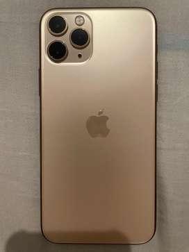 iPhone 11 Pro 256 GB Gold Dual Sim Card Aktif Semua Aman.