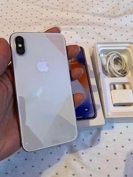 i phone X 256GB excellent working Complete Box Neat condition
