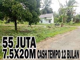 Tanah kavling murah bisa langsung bangun rumah cash tempo 12 bulan