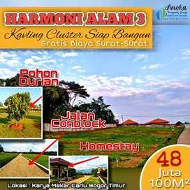 Tanah kavling harmoni alam dijual murah