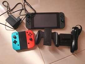 Dijual nintendo switch v1 full games 128 gb