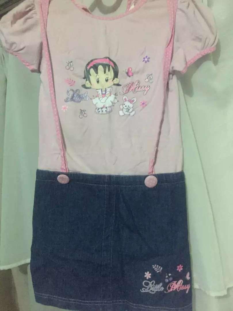 Preloved Dress pink anak cewek / perempuan 0