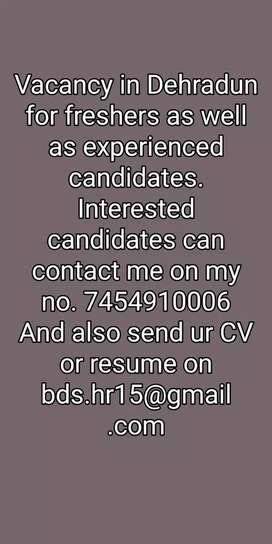 Jobs requirement