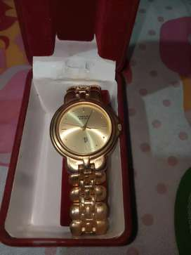 Golden beautiful watch