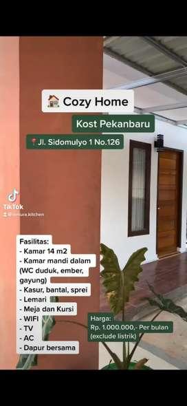Cozy Home, Kost Pekanbaru