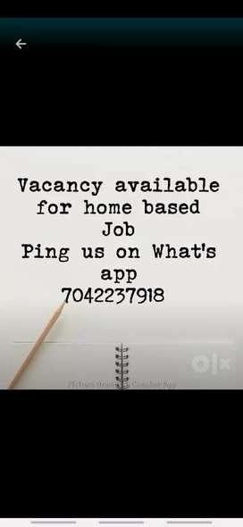 Part time data entry job for male and female