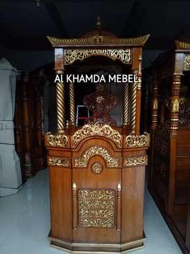 Ready Mimbar Masjid Material Kayu Jati Berkualitas #351