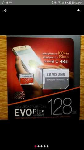 micro sd samsung evo plus original 128gb 4k UHS 3 class 10 speed 100mb