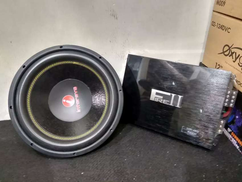 Power LM FIRE II LVA-450 and Subwoofer INTERSYS 12 inch Audio Mobil 0
