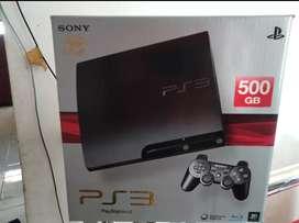 PlayStation 3 Slim Hardisk 500 GB full 50 Game paling ok 2 Stik mulus