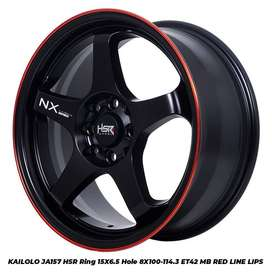 velg racing  KAILOLO JA157 HSR R15X65 H8X100-114,3 ET42 MB/RL
