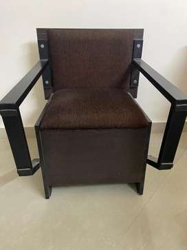 1 Year old wooden Study Table with dual chair + storage Rs. 1500