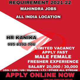 LOOKING FOR THE PERFECT JOB? A GOLDEN CHANCE TO GET WORK IN MAHINDRA M
