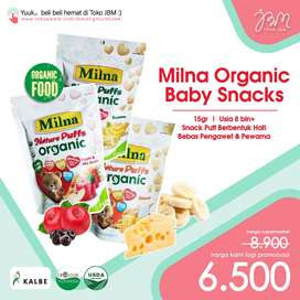 LAGI DISKON!! Milna Nature Puff Organic 15gr   Snack Bayi Organik