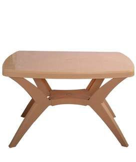 HOMEGENIC Nilkamal Plastic Dining Table, Standard