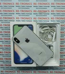 iPhone X 256 GB Storage Silver Good Condition with Box Charger