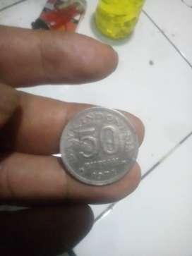 Uang koin lama 50 rupiah