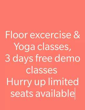 Floor excercise and Yoga Classes for Men and Women both