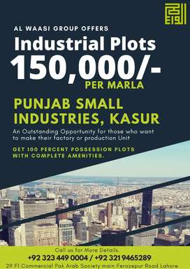 1 Kanal, 2 Kanal Industrial Plots in Punjab Small Industries Kasur