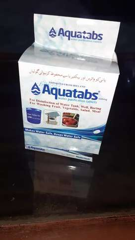 Chlorine tablets for small tanks treatment