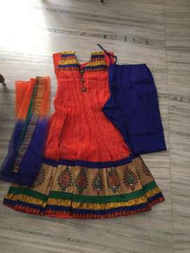 Bright orange kota dress