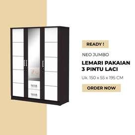 Lemari Pakaian 2 Pintu - Lemari Baju Neo Jumbo - Medan