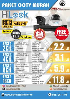 CCTV JAMINAN TERMURAH SE-BOJONEGORO MERK HILOOK 5MP