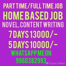 Novel, content writing work