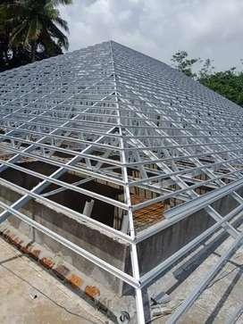 Rangka atap baja ringan terpasang
