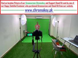 Muslin Green Screen Chromakey Photography Backdrop Support Stand Kit