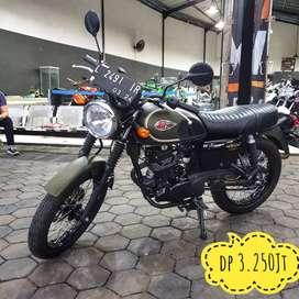 Kawasaki W175 SE 2019, Metalic Green-Rasa Baru, Mustika Motoshop