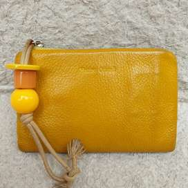 Dompet Marino Orlandi kuning kulit asli