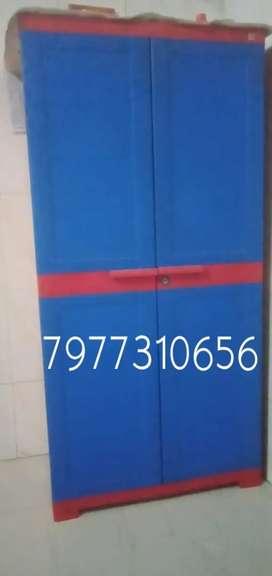 Plastic heavy duty double door wardrobe