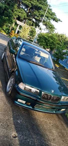 BMW E36 323i tahun 1997 Boston Green on green istimewa