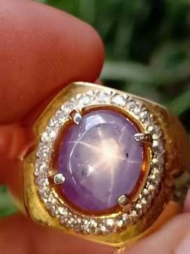 Purple sapphire Srilanka Mirah kecubung
