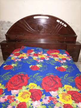 Bed for sale (Unique style solid wooden double bed)