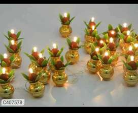 Golden Kalash String Light (22-25 Kalash)