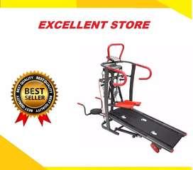 treadmill manual 6 fungsi Q-483 treadmil alat fitnes