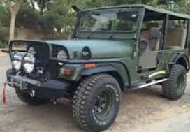Modified army look jeep