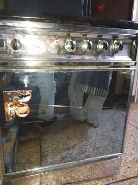 'gas  0ven with stove in fine condition