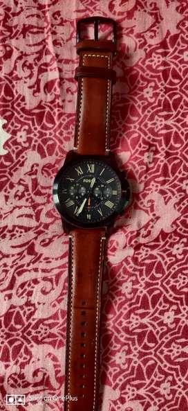 Fossil chronograph black dial Fs5241
