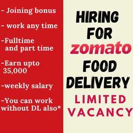 Food delivery job in Guwahati