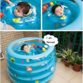 SR Kolam Renang Bayi Intime Baby Spa Bulat Round 5-Ring+Bonus Pompa