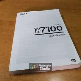 Buku manual kamera Nikon D7100