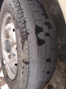 maruti 800 MRF 2 piece Tyres new condition